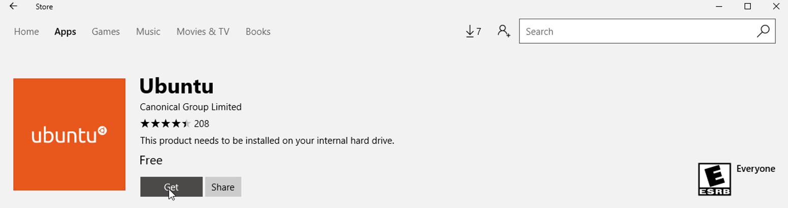 Linux on Windows - sal as